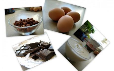 Bezowo-orzechowa rolada z czekolada i bita śmietana 02