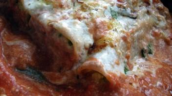 Cannelloni zapiekane z brokułami i kalafiorem