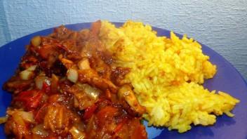 Curry z owoców morza