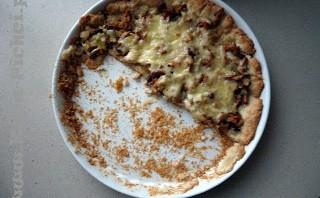 Serowa tarta z kurkami