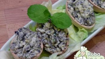 Jajka faszerowane pieczarkami wg. diety Dukana