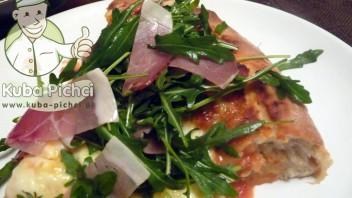Pizza z rukolą i szynką parmeńską
