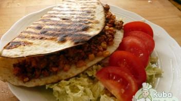 Grillowane quesadillas z mięsem mielonym