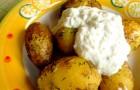 Pieczone młode ziemniaki z sosem tzatziki