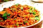 Curry z bakłażanem, okrą i ciecierzycą