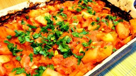 zapiekanka z ziemniakami i cukinia