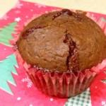 Muffiny piernikowe z konfiturą wiśniową