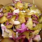 Najlepsza sałatka z ogórka kiszonego i cebuli
